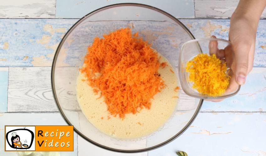 Yummy Carrot Cake recipe, prepping Yummy Carrot Cake step 2