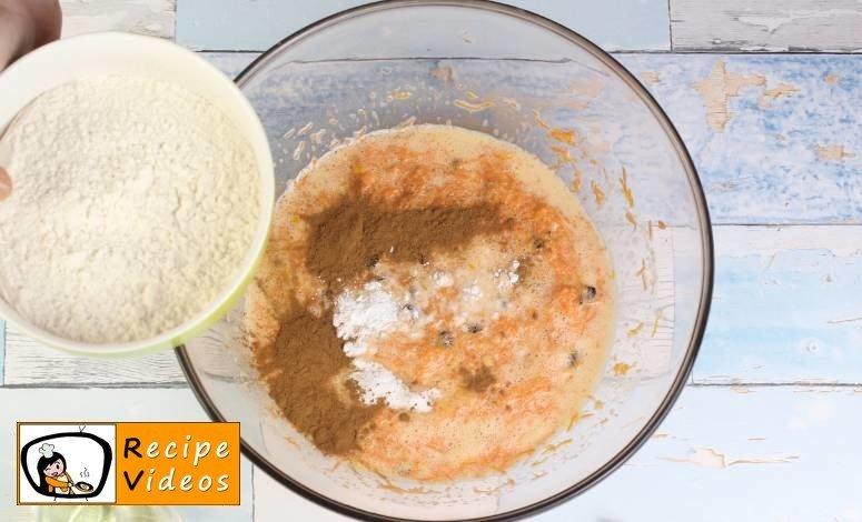 Yummy Carrot Cake recipe, prepping Yummy Carrot Cake step 3