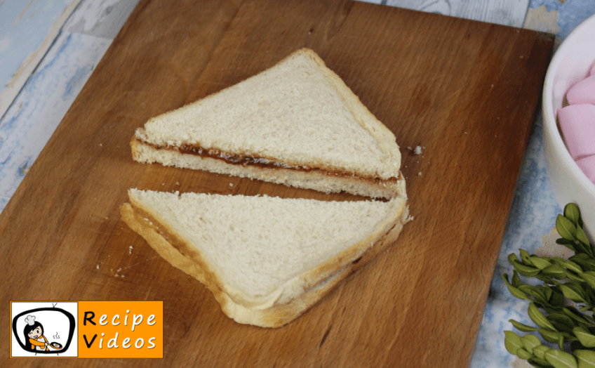 Peanut butter and jelly sandwich / S'mores recipe, how to make Peanut butter and jelly sandwich / S'mores step 2