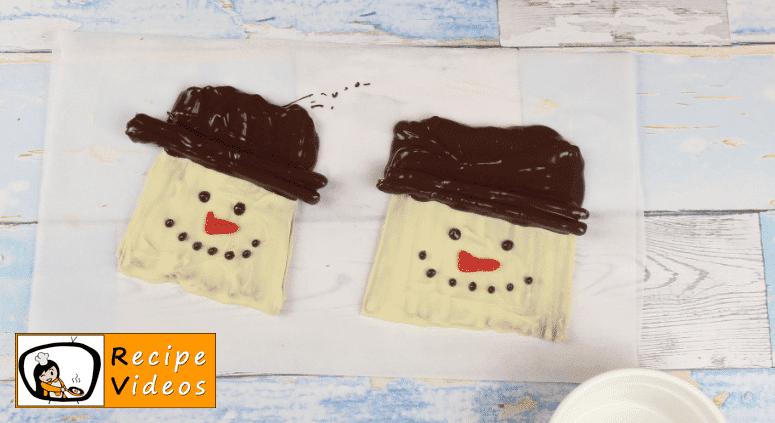 Chocolate Pretzel Snowman recipe, how to make Chocolate Pretzel Snowman step 4