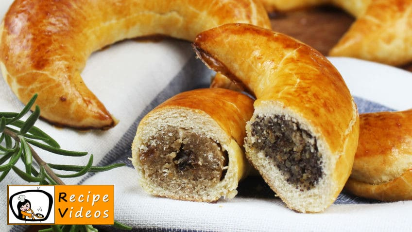 Nut and poppy seed crescents